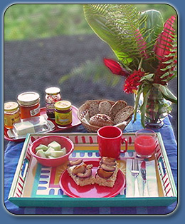 Breakfast at Mango Sunset Bed & Breakfast Kona, Hawaii