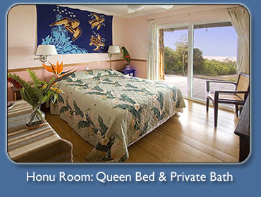 Honu Room at Mango Sunset Kona Hawaii Bed & Breakfast Inn