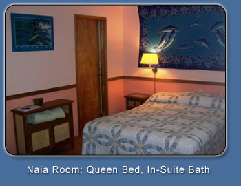 Naia Room: Queen Bed, In-Suite Bath